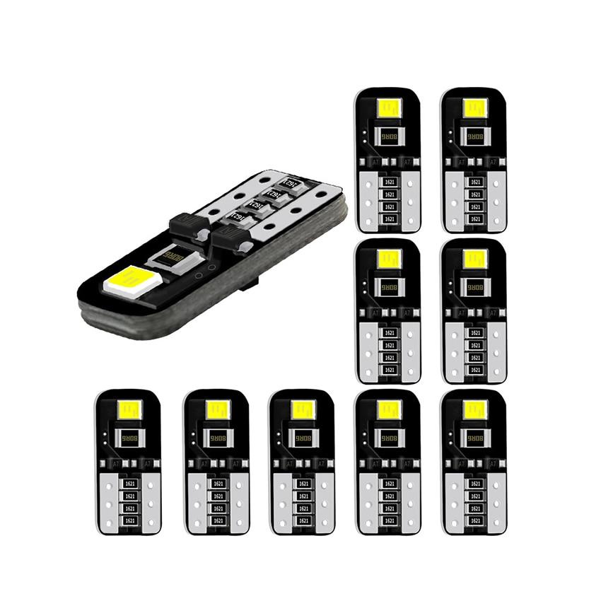 2 шт./лот 194 168 2835 T10 2 SMD, белые светодиодные автомобильные лампы, супер яркие 6500 K для маркера на крыше, бокового маркера, автомобильного купола,...