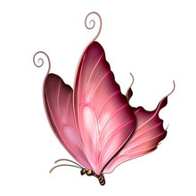 Car Stickers Decor Motorcycle Decals Cartoon Dreamy Butterfly Decorative Accessories Creative Sunscr