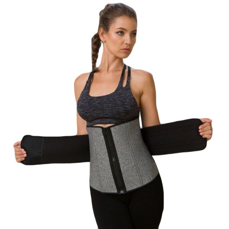 La cintura de las mujeres entrenador cinturón doble faja cinturón de cintura formadores adelgazar barriga fajas con huesos de acero Cincher Corset