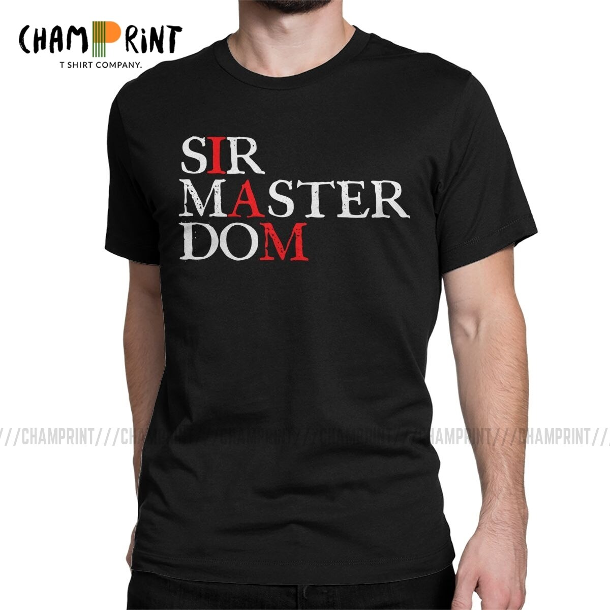 Camisetas de hombres dominantes soy BDSM Dominant esclavo sometido a juego Sexy Sub Creative Tees Camiseta de cuello redondo regalo Idea ropa