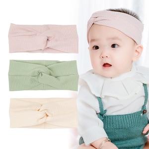 Baby Toddlers Wide Cotton Cross Windproof Headband Infants Kid Elastic Hair Band Hairbands Children Newborns 3pcs/set Headdress