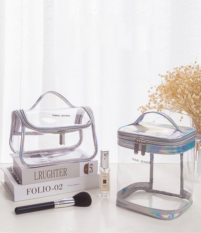 clear crossbody bag with inner pouch Fashion Transparent Travel Organizer Clear Makeup Bag Beautician Cosmetic Bag Beauty Case Toiletry Bag Make Up Pouch Wash Bags
