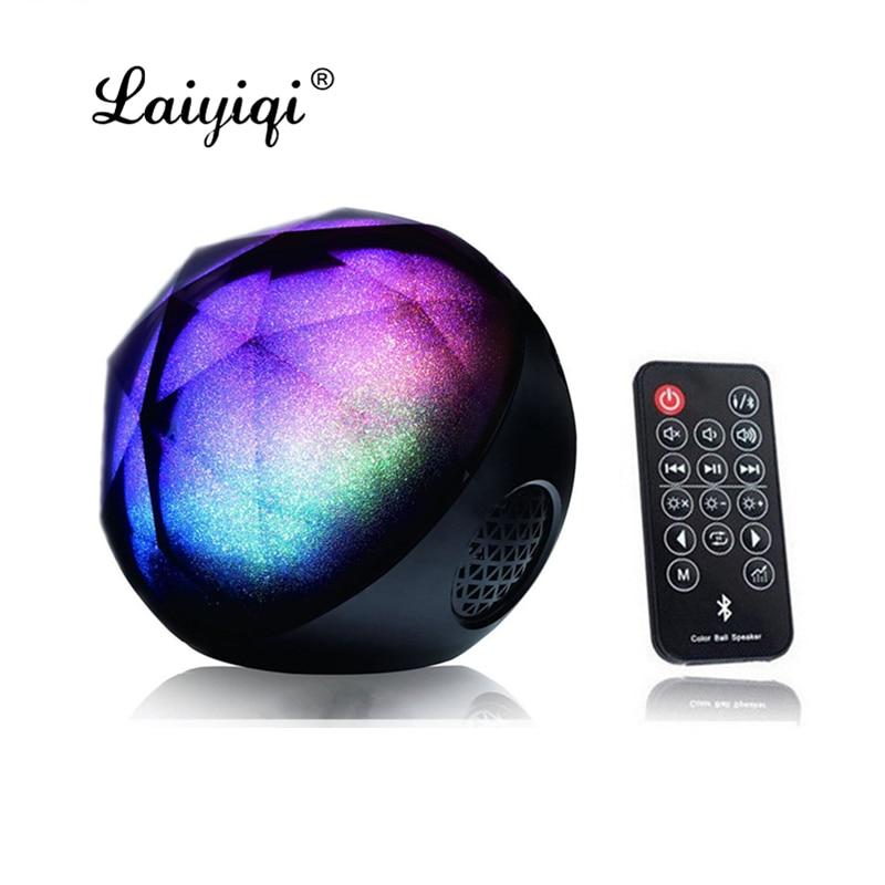 Laiyiqi-altavoz Bluetooth con Control remoto, Bola de diamante, luz colorida, cassa, LED,...