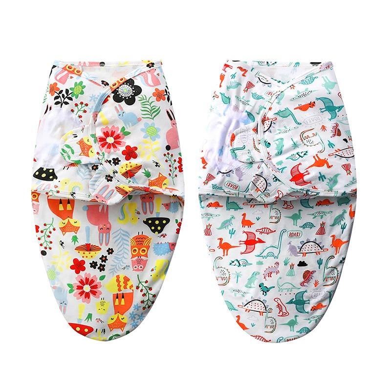 100%Cotton Babies Sleeping Bags Newborn Baby Cocoon Swaddle Wrap Envelope 0-3 Months Baby Blanket Swaddling Wrap Sleepsack