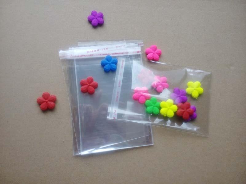 1000 Uds. Celofán transparente que se puede volver a sellar/BOPP/Poly Bags bolsa Opp transparente bolsas de plástico para embalaje sello autoadhesivo para regalo