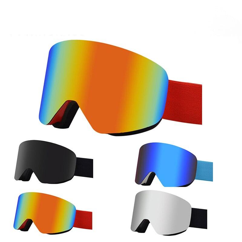 Зимние мужские женские мужские цилиндрические лыжные очки, двухслойные противотуманные магнитные HD UV400 лыжные очки, очки с защитой от снега