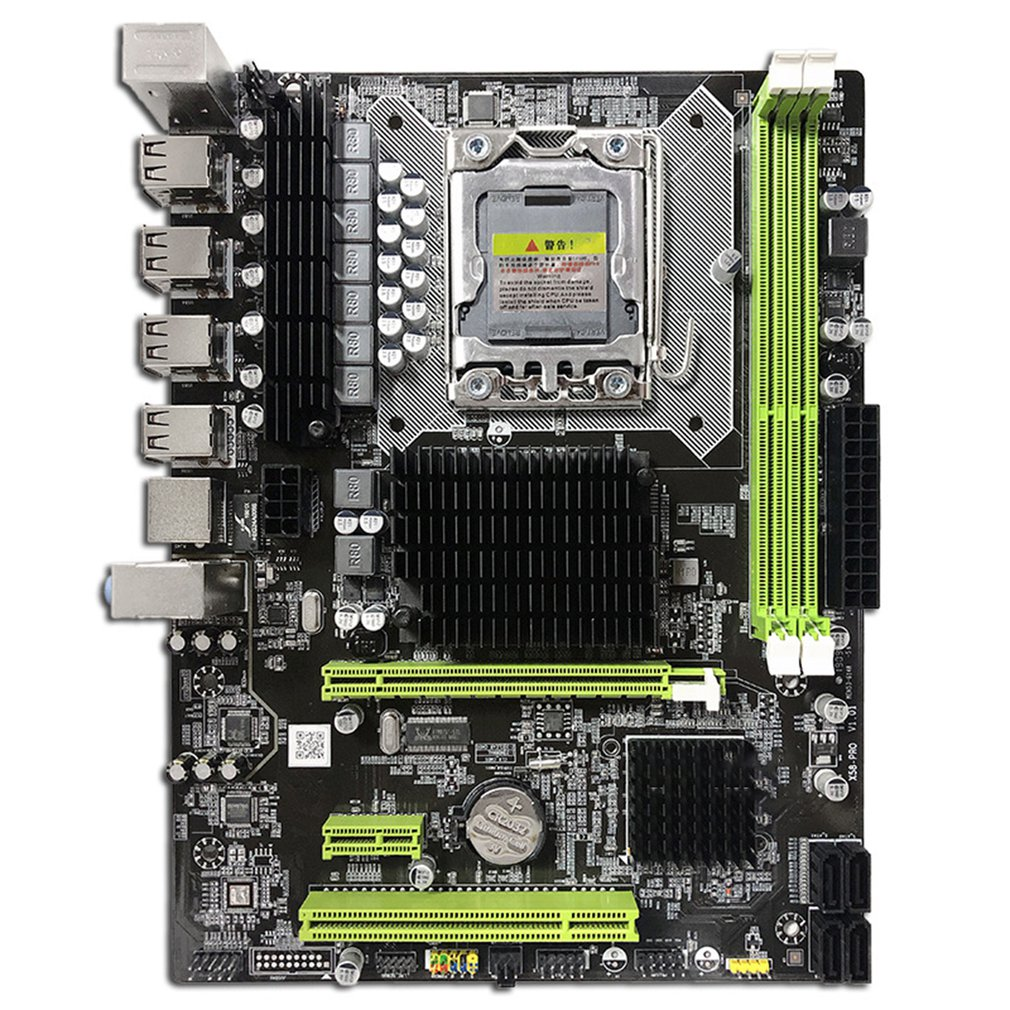 2021 New pc motherboard X58 LGA 1366 LGA1366 support DDR3 ECC server memory and Intel xeon processor X58-PRO mainboard