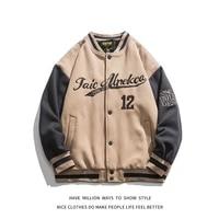 2021 new springautumn old school embroid letter jacket mens bomber coat unisex womens boyfriend style varsity casual chic
