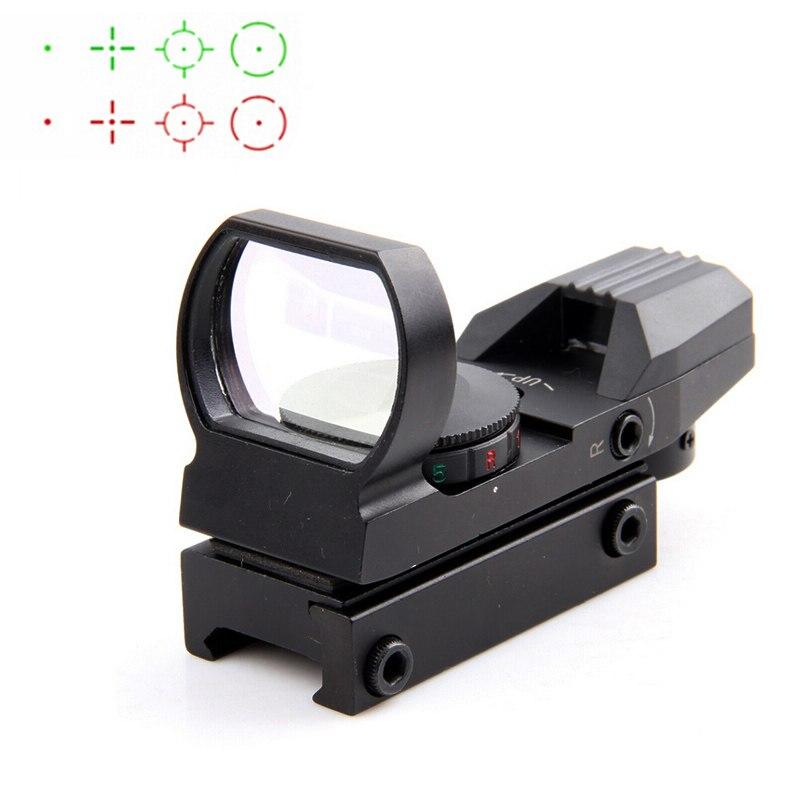 ¡Oferta! Riflescope de 20 Mm, óptica de caza Holografische, punto rojo, reflejo de vista, 4 Richtkruis, mira táctica, colimador