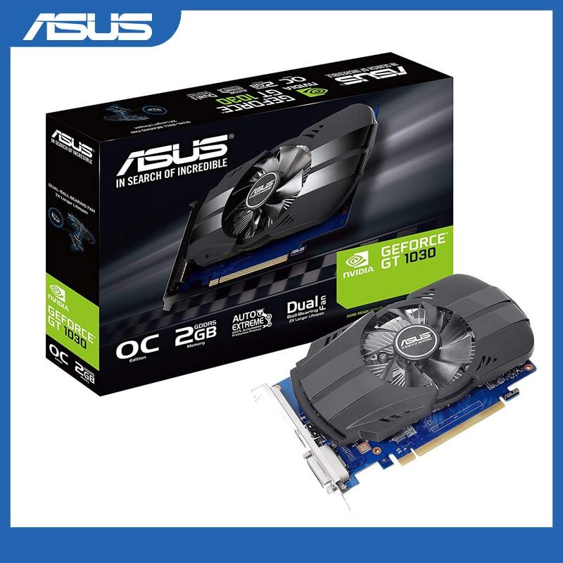 Tarjeta gráfica Asus PH-GT1030-O2G GeForce GT 1030, 2GB, Phoenix Fan OC, edición HDMI DVI