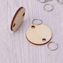 Disques ronds en bois de 50 pièces   Anneau métallique pour bricolage, artisanat de planche danniversaire et de calendrier