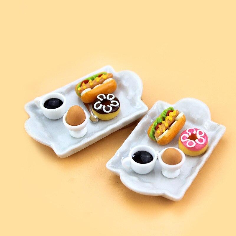 112 escala miniatura casa de muñecas DIY simulación de modelo de comida para decoración de casa de muñecas Mini juego de bebida con accesorios de casa de muñecas plato