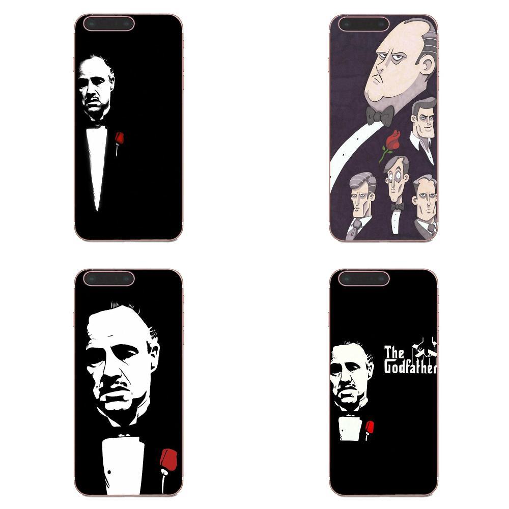 Tpu Soft Black Phone Case Godfather For Huawei Honor Mate Nova Note 20 20s 30 5 5I 5T 6 7I 7C 8A 8X 9X 10 Pro Lite Play