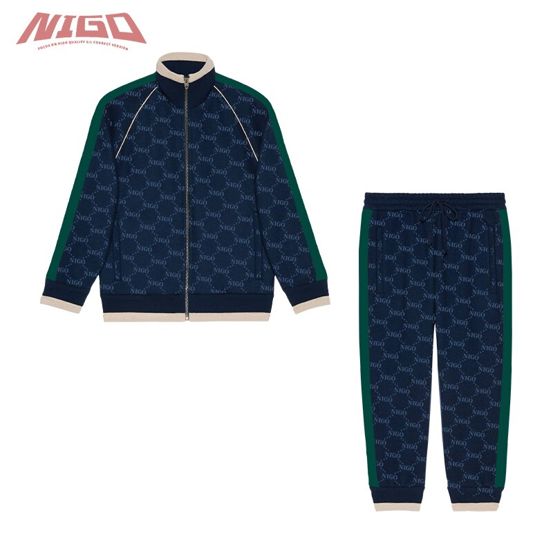 NIGO Children's Colorblock Aportswear 3-14 Year Old Clothes Zipper Coat Trousers #nigo31275