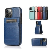 solid color fashion stand leather phone case for apple iphone 11 12 mini x xs xr pro max 6 7 8 s se 2020 plus cases cover coque