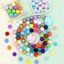 Cute-idea 20pcs 19mm silicone beads teething chewable pearl safe nursing Accessory teether making ha