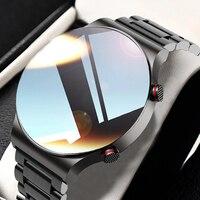 Роскошные мужские умные часы, мужские спортивные часы с полноэкранным сенсорным экраном, Bluetooth, пульсометром, защитой класса IP67, женские час...