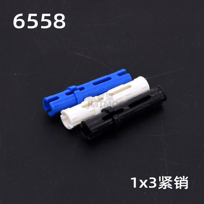 50-200pcs/set MOC DECOOL high-tech parts Long Pin with Friction Ridge Compatible 6558 Building Blocks Bricks Parts Toys