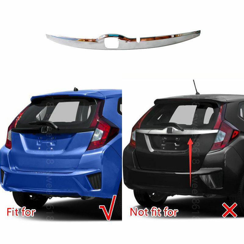 Para Honda Fit 2015, 2016, 2017 cromo puerta trasera logotipo trasero tapa del maletero de moldeo recorte cubierta 1 piezas