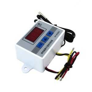 12V/24V/220V XH-W3002 ABS Digital Temperature Controller Switch With 1M Waterproof Probe LCD Display