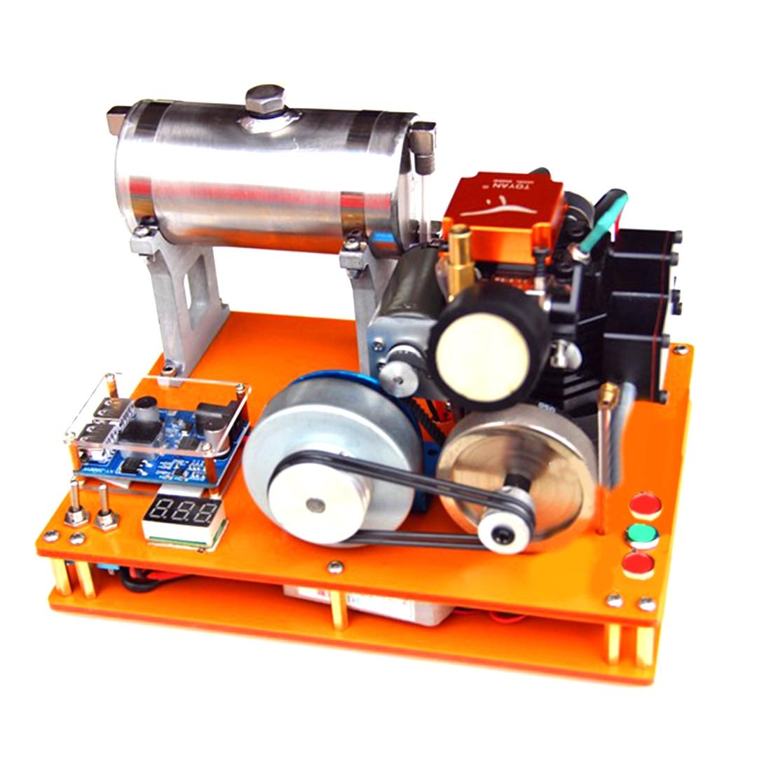 TOYAN Motor de metanol de cuatro tiempos DIY 12V generador ciencia y educación laboratorio motor