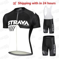 strava pro team cycling jersey men set bib shorts set 2021 summer mountain bike bicycle suit bicycle racing uniform clothes