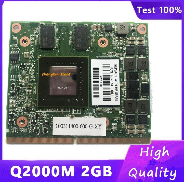 الأصلي Q2000M Q2000 N12P-A3-A1 2GB فيديو رسم بطاقة لديل M4600 hp 8540w 8560w اختبار 100%