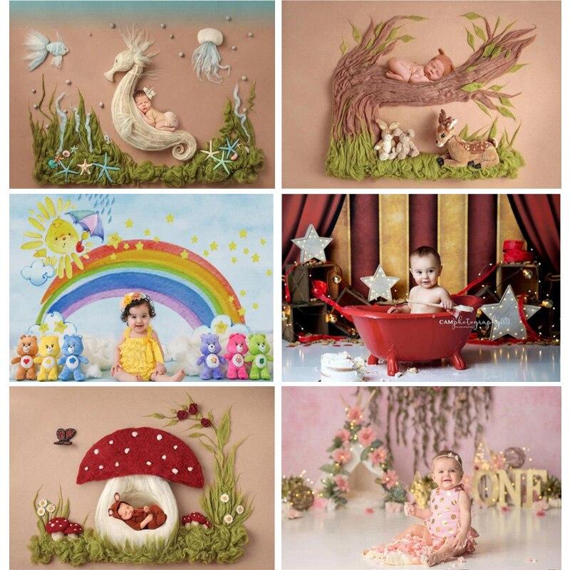Vinyl Happy Easter Photography Backdrops Birthday Baby Photography Background Newborn Photo Studio Props 211001 YXX-31
