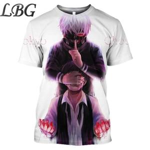 LBG anime t-shirt tokyo ghoul print 3D t shirt men's short sleeve 2019 summer new anime t-shirt shirt sweatshirt billy clothes