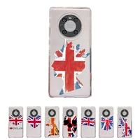 british flag phone case transparent for huawei honor v 40 30 20 x note 10 pro lite max s soft tpu clear mobile bags
