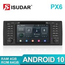 Isudar PX6 Android 10 Hexa Core 1 Din Auto Radio pour BMW série 5 E39 CANBUS voiture multimédia vidéo lecteur DVD GPS Navigation DSP
