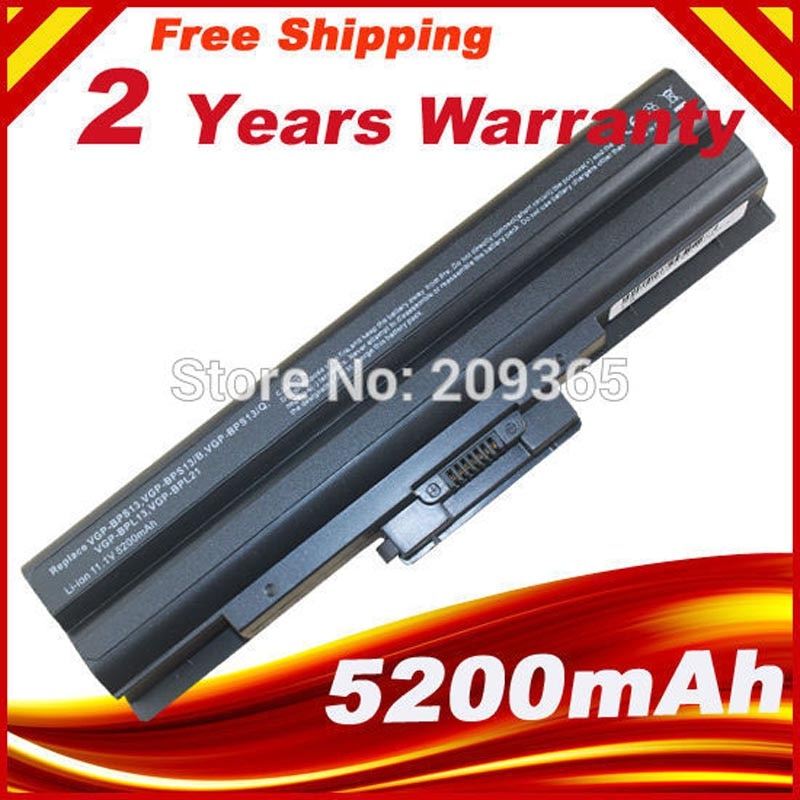 Batería de 6 celdas para ordenador portátil Sony NEW BPS13/B VGP BPS13/Q VGP-BPS13BA/B PCG-31311M 3E1M 5N4L 3F1M 3H1M 3J1M 51113M, envío gratis
