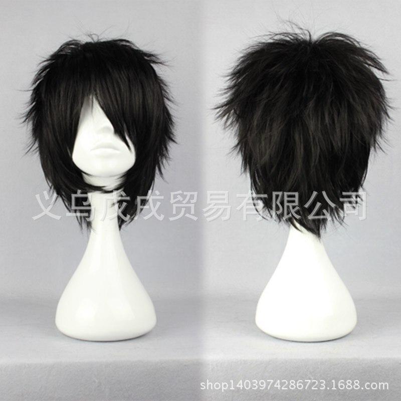 Peluca de Anime Prince Of Tennis Mizuki Hajime, peluca de pelo negro corto y recto, peluca sintética para fiesta de Halloween o carnaval
