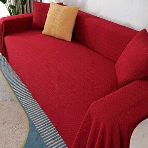 New Plush Sofa Cover Pure Color Fashionable Non-slip Sofa Towel Bay Window Floor Cushion Multi-purpose Living Room Cushion