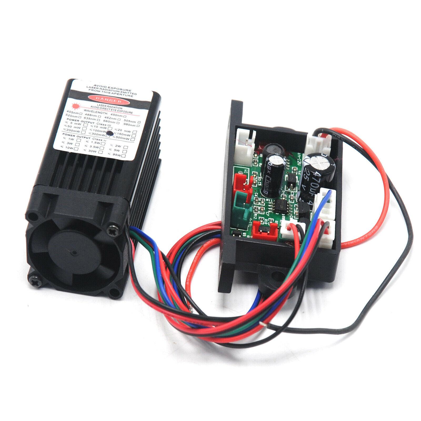 100 мВт 532 нм зеленый лазер диод модуль 12 В вентилятор охлаждение TTL 0-30 кГц длительный время работа