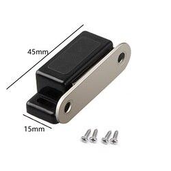 10 pçs/lote plástico preto pequena porta magnética pega armário de armário de cozinha armário trava captura de ferragem