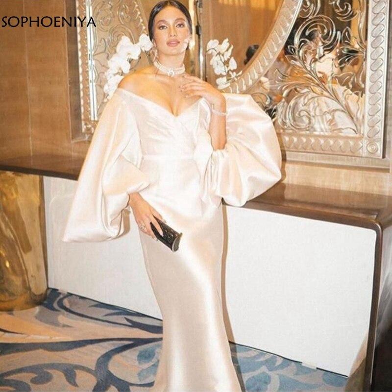 فستان سهرة للحفلات, فستان سهرة موديل 2021 بفتحة رقبة على شكل حرف V وأكمام نصف طويلة ، فستان سهرة رخيص