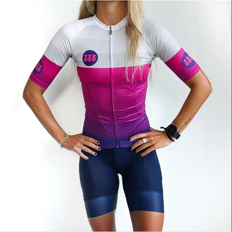 2020 tres pinas ensemble de Maillot de cyclisme 9D vélo Ensemble Short Et Haut vtt Ropa Femmes Eté séchage rapide pro cyclisme CHEMISES Maillot Culotte Usure