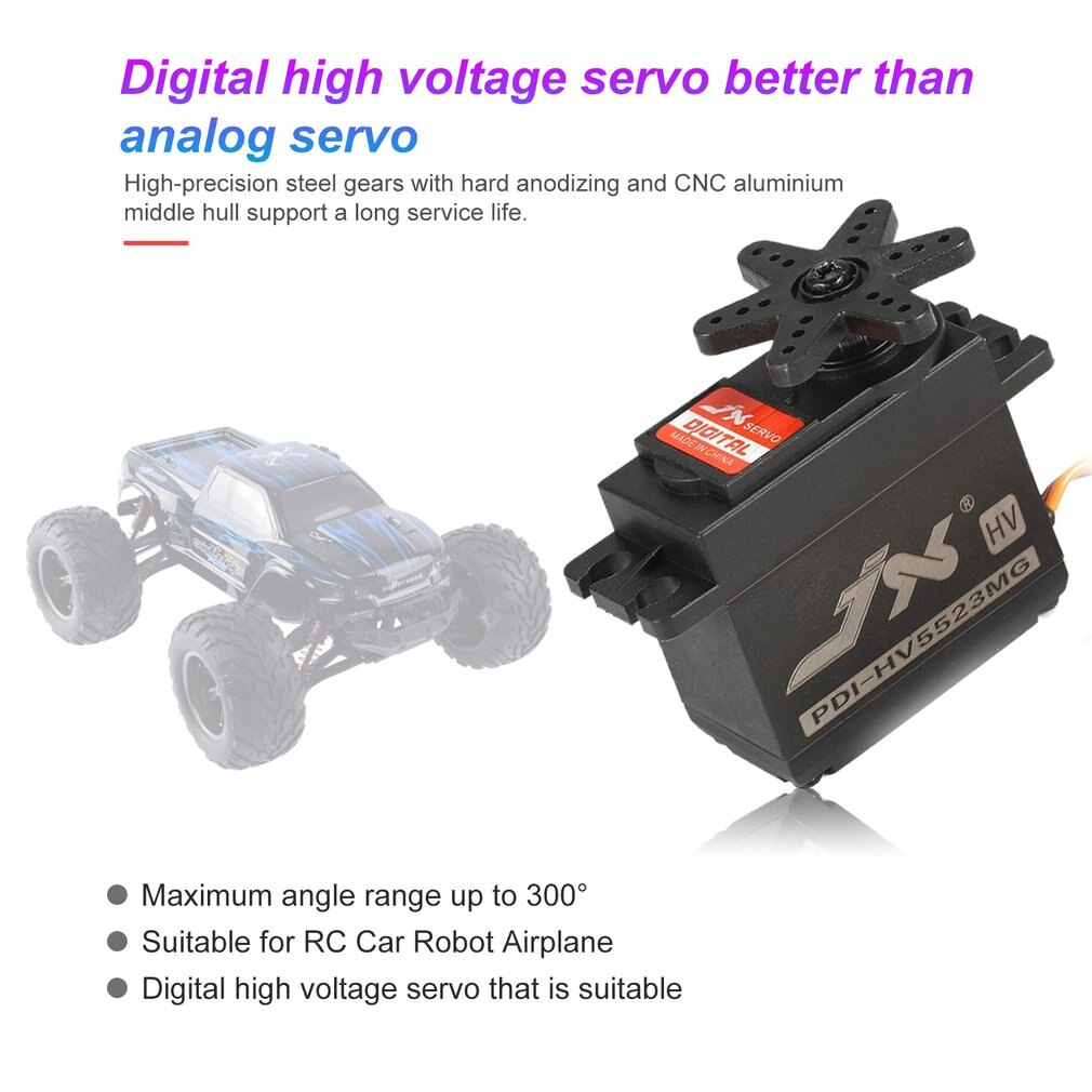 JX PDI-HV5523 HV High Voltage Metal Gear Digital Core Servo with 23kg High Torque for RC Car Robot Airplane Aircraft Drone DIY enlarge