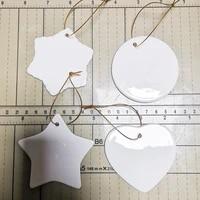 Pendentif en ceramique a Sublimation  Lot de 10 pieces  ornements de noel  transfert de chaleur  nouvel an  decoration de maison