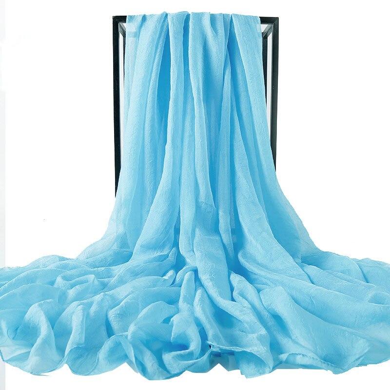 AMYO New Summer Chiffon Silk Scarf for Women Soft Thin Long Scarves 70cm to 300cm Shawl Fashion Cand