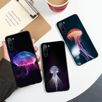 cute jellyfish colorful animal phone case for huawei honor mate p 10 20 30 40 i 9 8 pro x lite smart 2019 nova 5t