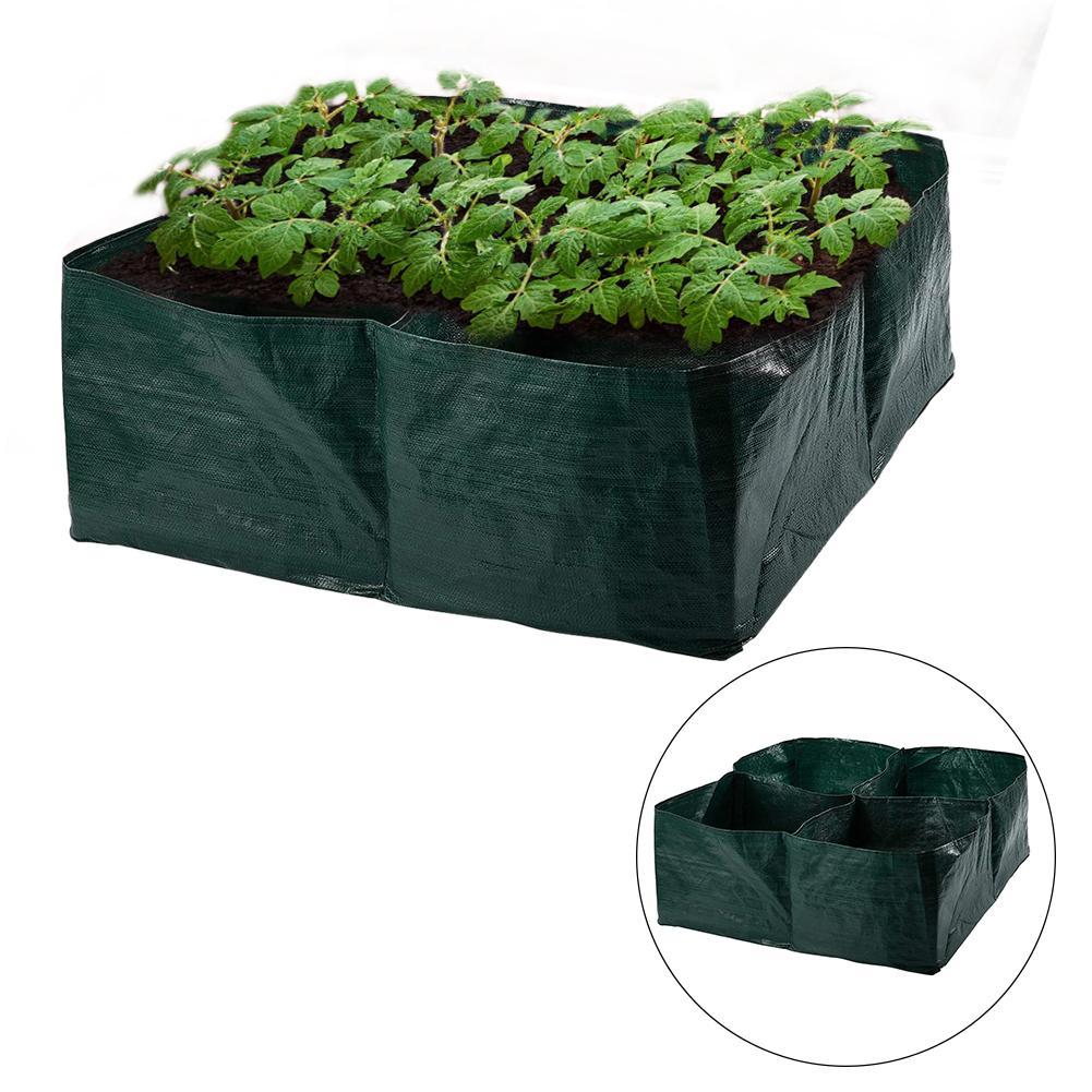 Bolsa de cultivo para jardín, duradera, cuadrada, flores, plantas vegetales, bolsa anticorrosión para vivero, bolsas de cultivo para granja, bolsas de plantación transpirables