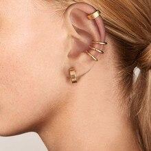 2PCS Clip on Body Nose Lip Ear Fake Retractable Earrings Hoop Earrings Septum Ear Studs Women  Jewelry Brincos Bijoux Gifts