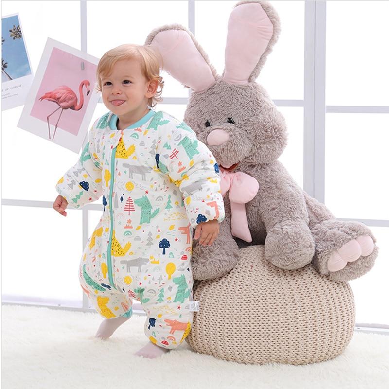 Baby Slaapzak Saco Bebe Bolsa De Dormir Infant Sleepsack Autumn Sleeping Bag Kids Winter Thick Warm Sleepwear for Newborn