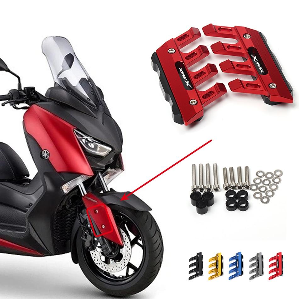 Logotipo do laser 5 cores para yamaha X-MAX xmax 250 300 400 motocicleta cnc alumínio frente paralama anti-gota slider protector capa