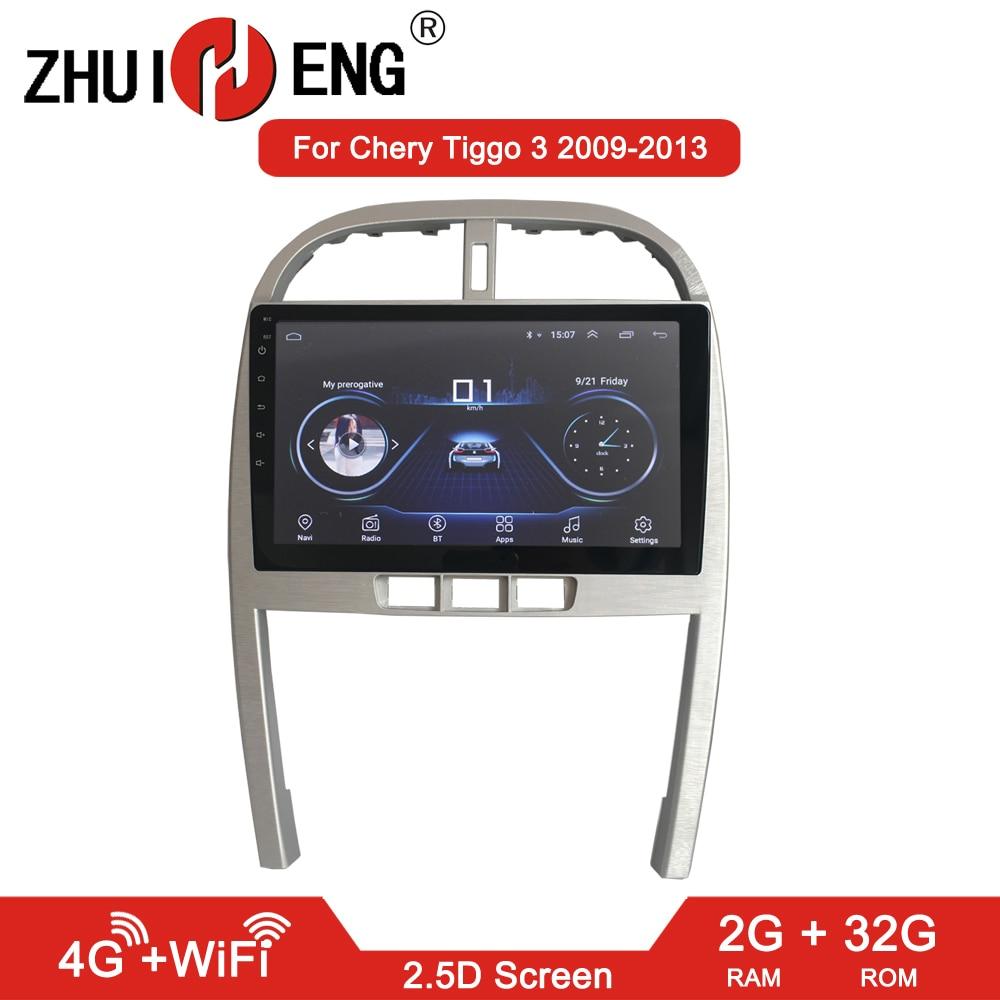Zhuiheng 2g + 32g android 8.1 rádio do carro para chery tiggo 3 2009-2013 reprodutor de dvd do carro gps navi acessórios do carro 4g reprodutor multimídia