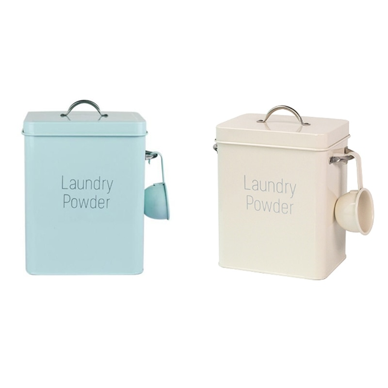 laundry powder box Beautiful Powder Boxes Storage with Scoop Storage Baskets box for washing powder