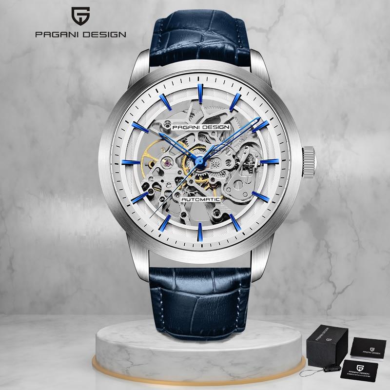 PAGANI تصميم التلقائي ساعة ميكانيكية للرجال العلامة التجارية الفاخرة الرجال الساعات موضة سوار رسغ من الجلد مقاوم للماء ساعات المعصم