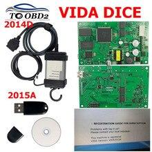 최신 2015a volvo vida dice pro + 2014d 용 전체 칩 pcb 보드 진단 도구 full chips dice pro for volvo scanner